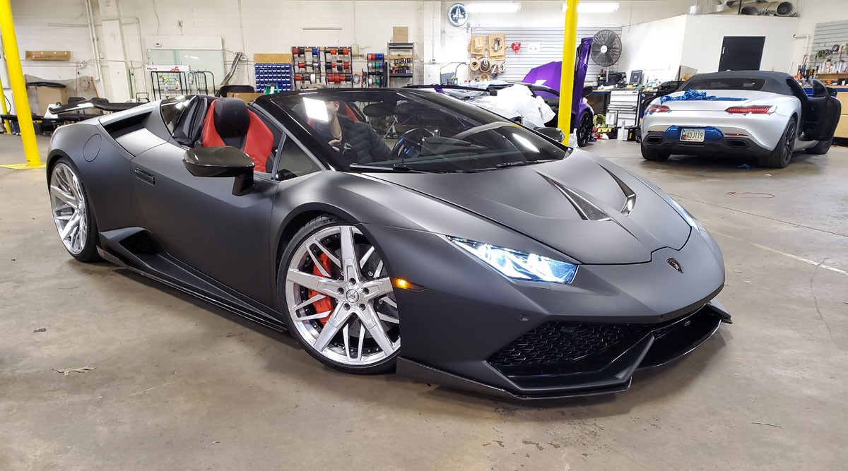 Lamborghini with ClearPlex exterior windshield protection